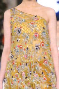Latest Fashion 2016 Yellow Embroidered Shirt With Rusty Orange Capri Pants