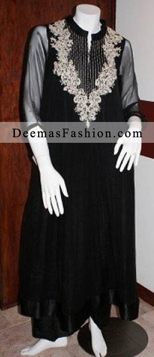 Black A-Line Party Wear Dress