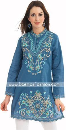 Designer-Wear-Blue-kurti