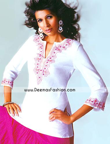 Ladied-Fashion-Wear---White--kurti