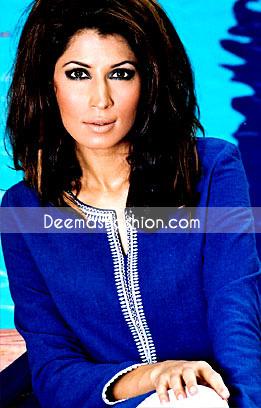 Latest Pakistani Fashion - Blue Embroidered Kurta