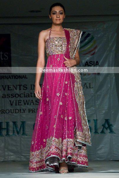 Shocking Pink Bridal Wear Anarkali