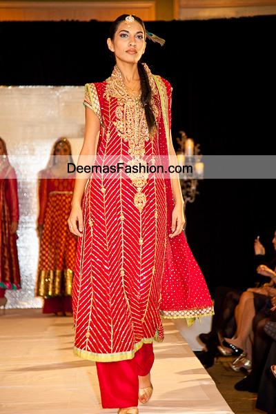 Latest Eid Dress Red Aline Shirt Trouser