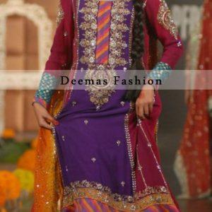Multiple Color Mehndi Wear Bridal Dress