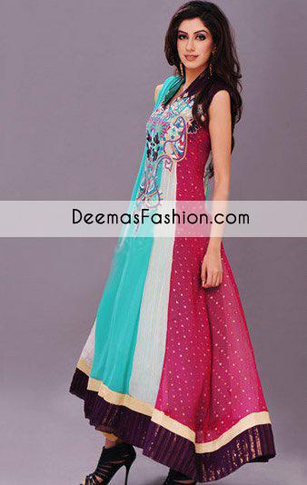 4ed2b97adf Multiple Color Anarkali Pishwas Dress - Latest Designer Dresses ...
