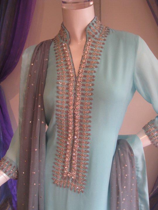 Pakistani Casual Fashion - Light Blue Dress