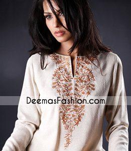 Latest Designer Clothes White Embroidered Kurta