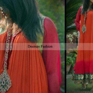 Pakistani Designer Collection Double Tone Anarkali Pishwas