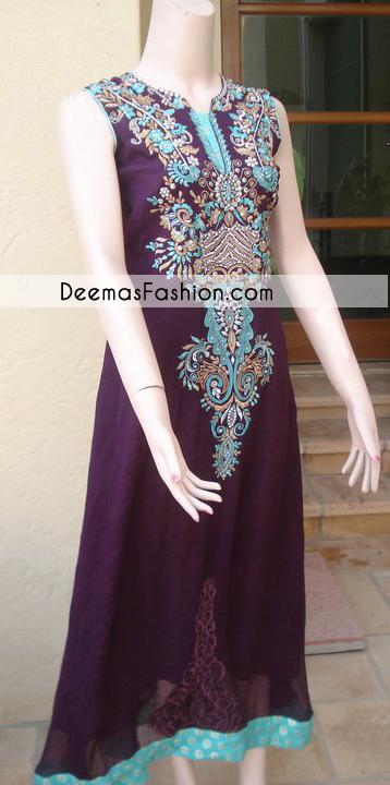 Dark Purple Aline Formal Dress