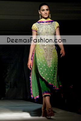 Double Tone Formal Mehndi Wear Dress