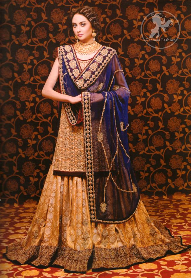 Royal Blue Bridal Dress