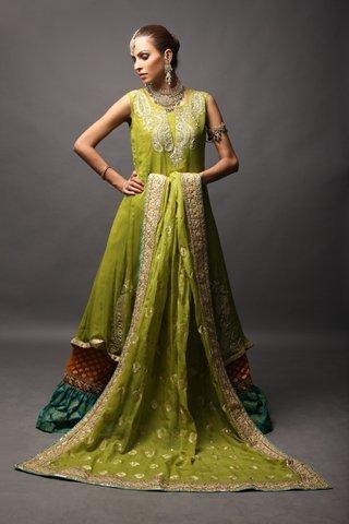 Mendi Green Gharara