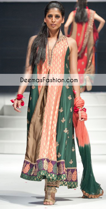 Multi Color Aline Anarkali Pishwas Churidar
