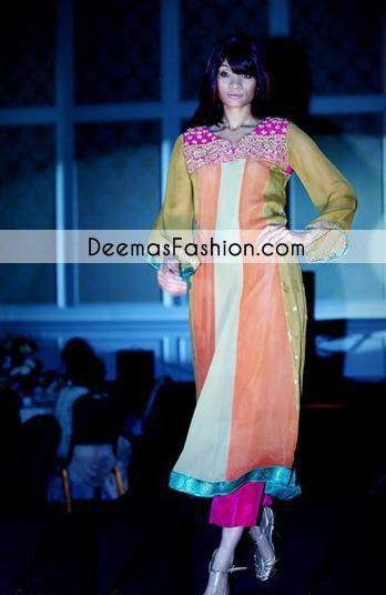 Multi Panel Anarkali Casual Wear Pishwas Dress