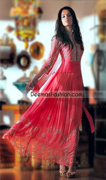 Latest Pakistani Fashion Pink Pishwas